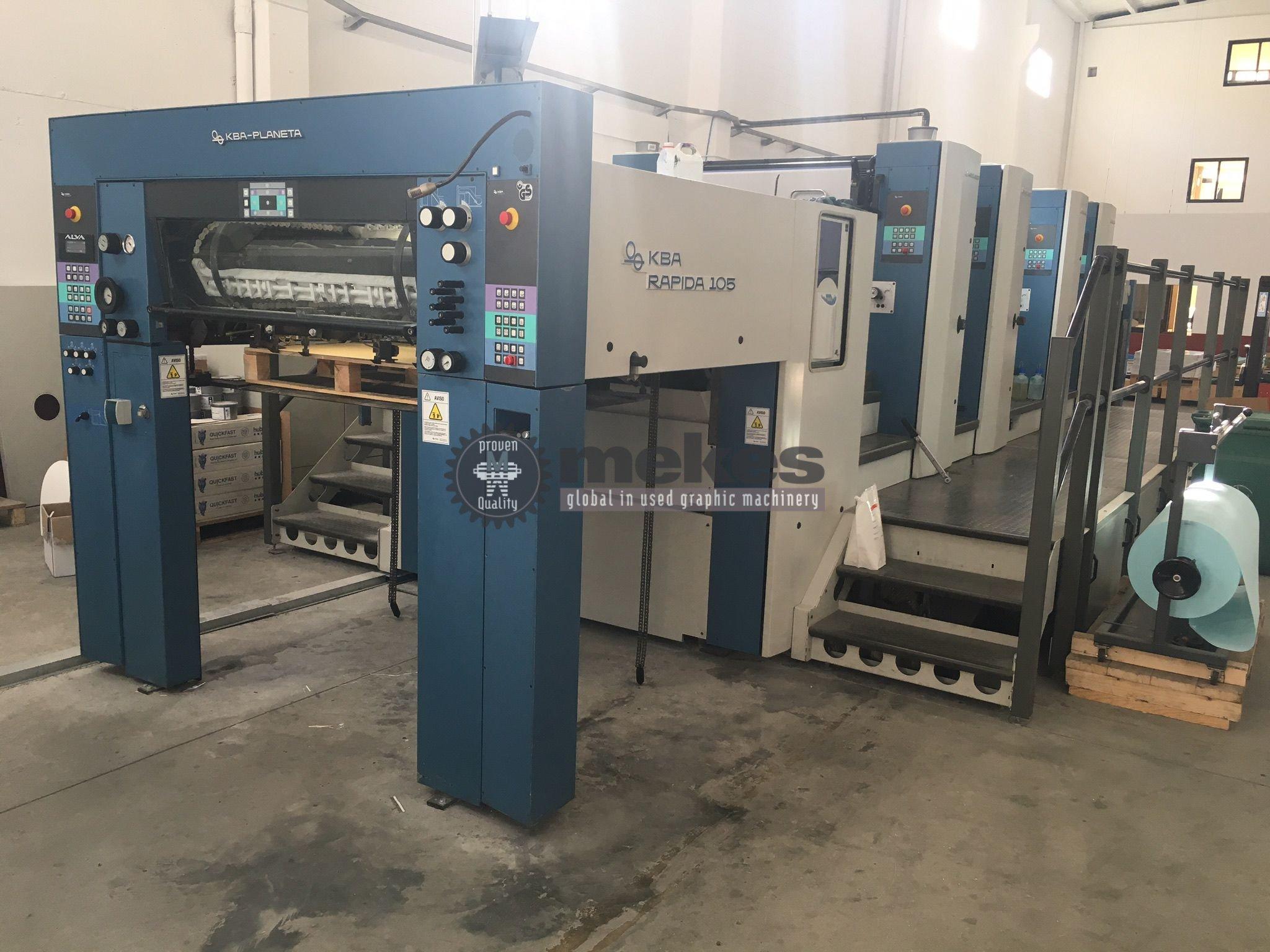 16706 used printing press KBA Rapida 105-4 P (1)